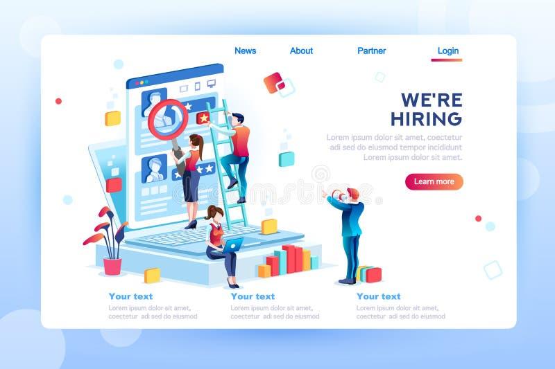 Presentación social para el empleo de alquiler Infographic libre illustration