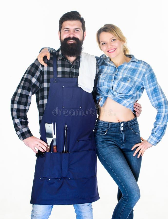 Presentaci?n de la comida Herramientas para asar la carne Pares en utensilios de la cocina del control del amor Barbacoa de la co imágenes de archivo libres de regalías