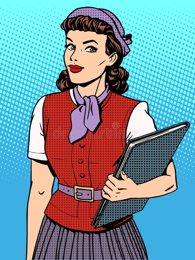 Presentadora del consultor del vendedor de la empresaria libre illustration