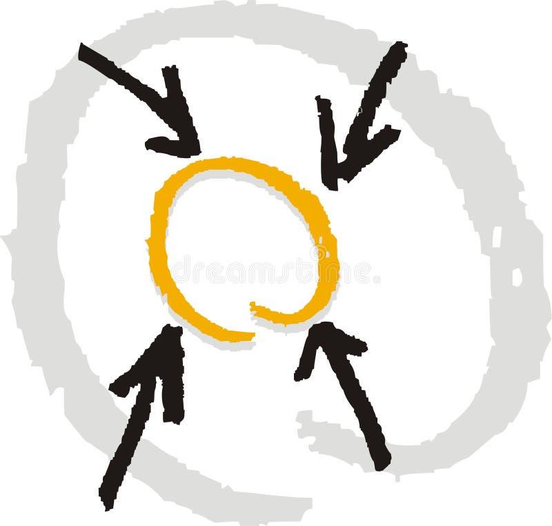 Presentatie 2 van de richting vector illustratie