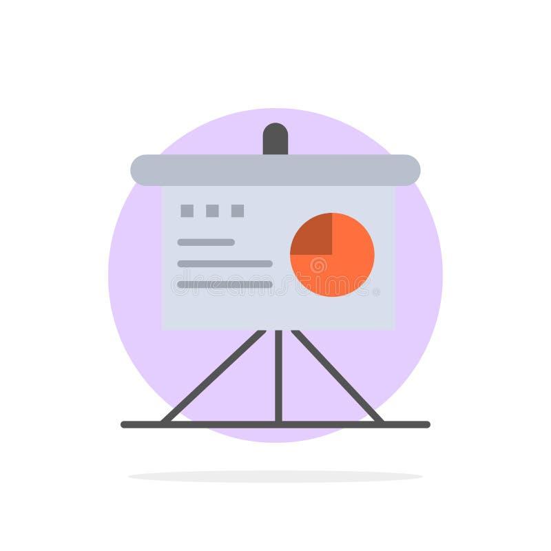 Presentatie, Analytics, Raad, Bedrijfs Abstract Cirkel Achtergrond Vlak kleurenpictogram vector illustratie
