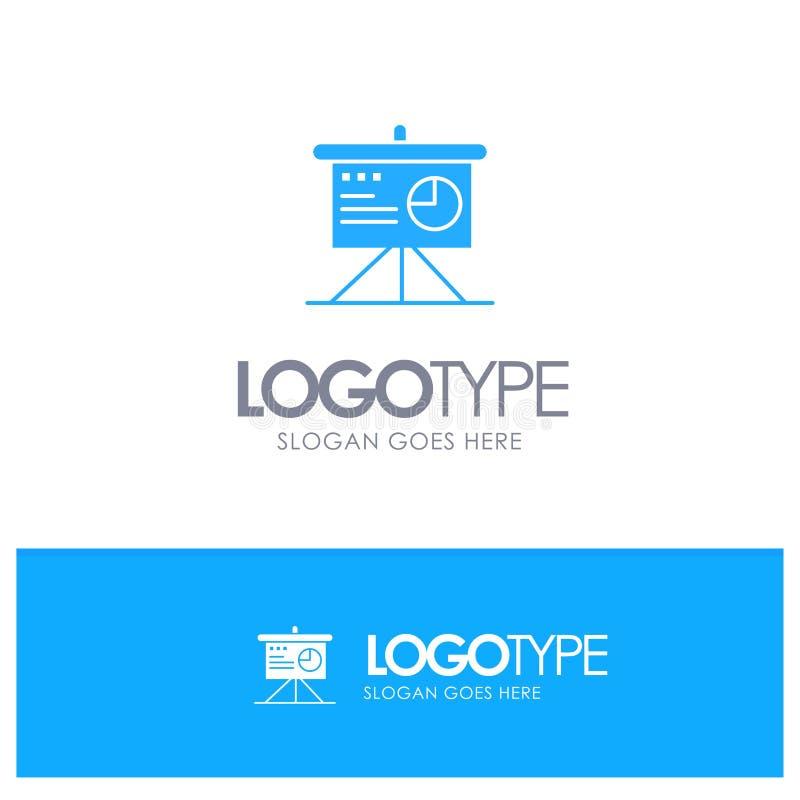 Presentatie, Analytics, Raad, Bedrijfs Blauw Stevig Embleem met plaats voor tagline vector illustratie