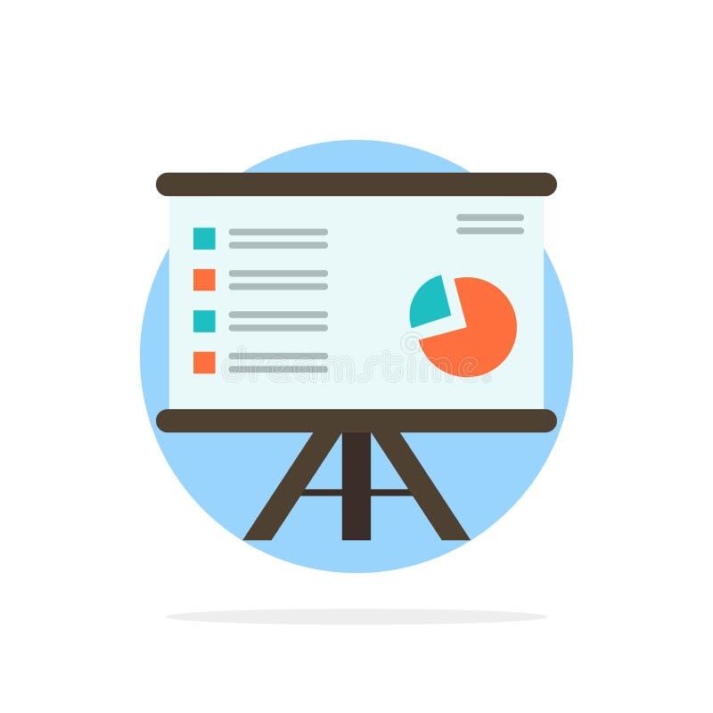 Presentatie, Analytics, Zaken, Grafiek, Grafiek, Marketing, van de Achtergrond rapport Abstract Cirkel Vlak kleurenpictogram vector illustratie