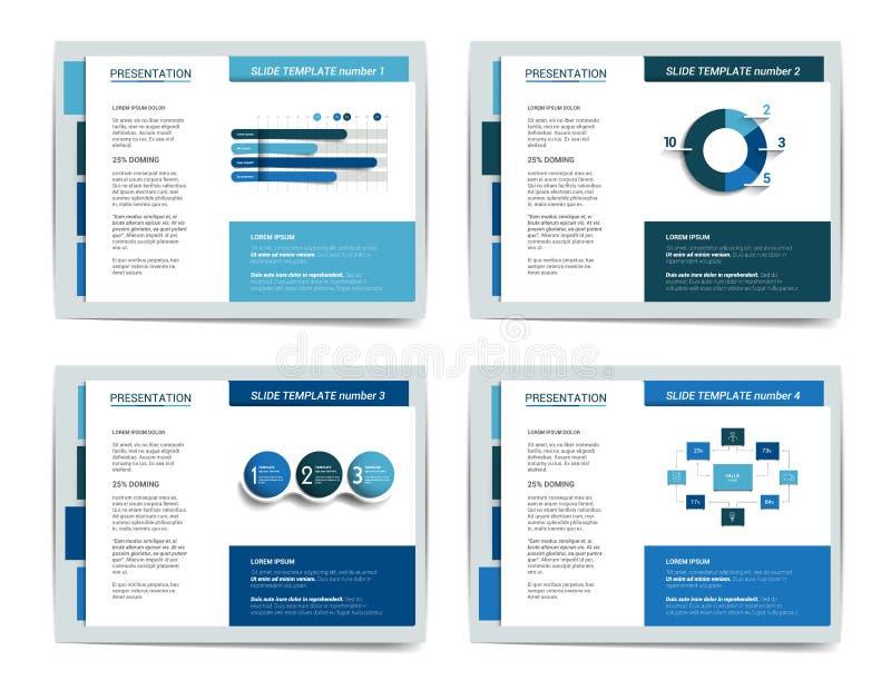 4 presentatie bedrijfsmalplaatjes stock illustratie