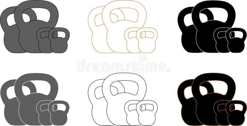 Download Presentatie Logotype Voor Kettlebell Opleiding Vector Illustratie - Illustratie bestaande uit oefening, achtergrond: 107703779