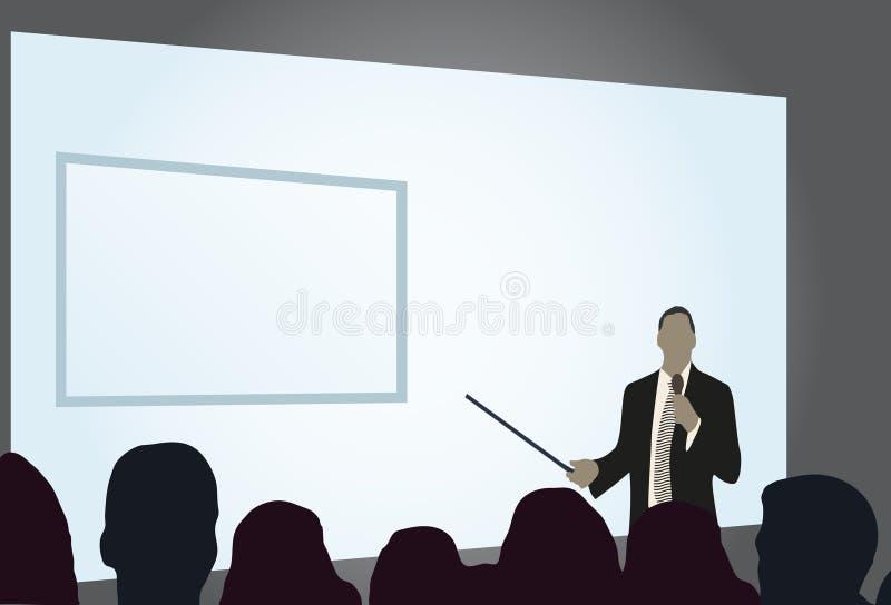 Presentatie op handelsconferentie vector illustratie