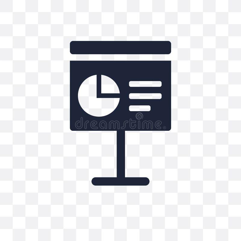 Presentatie transparant pictogram Het ontwerp van het presentatiesymbool van B stock illustratie