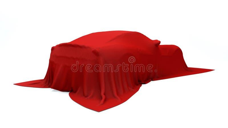 Presentatie van de rode sportwagen royalty-vrije stock afbeeldingen