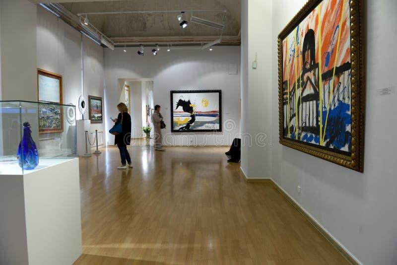 Presentatie van de tentoonstelling van Antonio Meneghetti in St. Petersburg royalty-vrije stock afbeeldingen