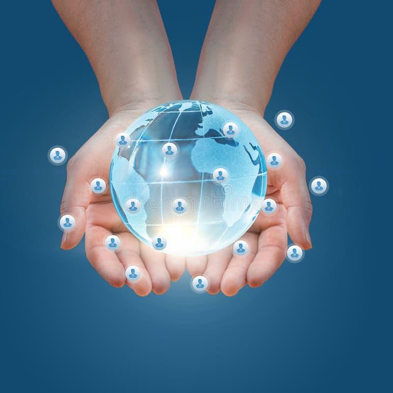 Presentatie van het mondiale sociale net stock afbeeldingen