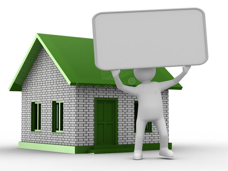 Presentatie van nieuw huis stock illustratie