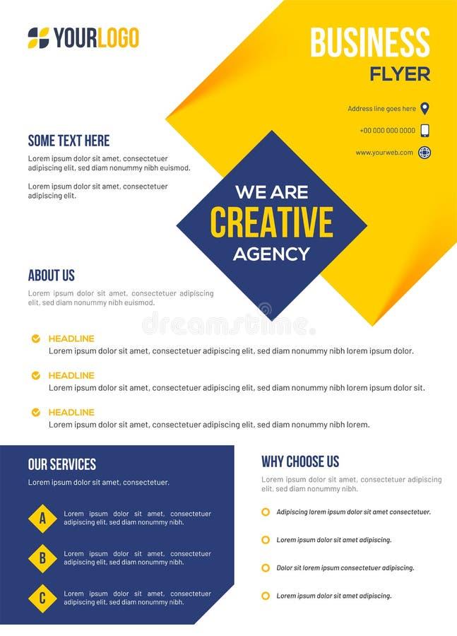Presentatiebrochure voor collectieve sector, Creatieve agentschap bedrijfsmalplaatje of vlieger vector illustratie