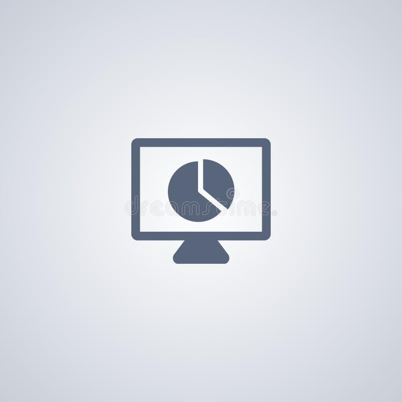 Presentatiediagram, vector beste vlak pictogram stock illustratie