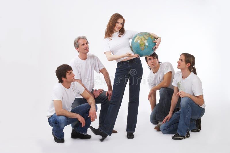 Presentating earth royalty free stock photo