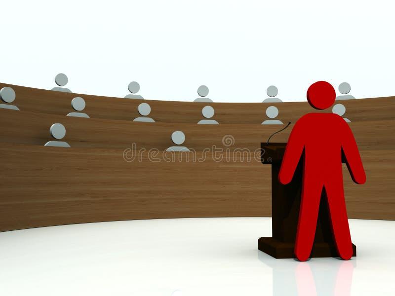 Download A Presentation stock illustration. Image of captain, boss - 21056675