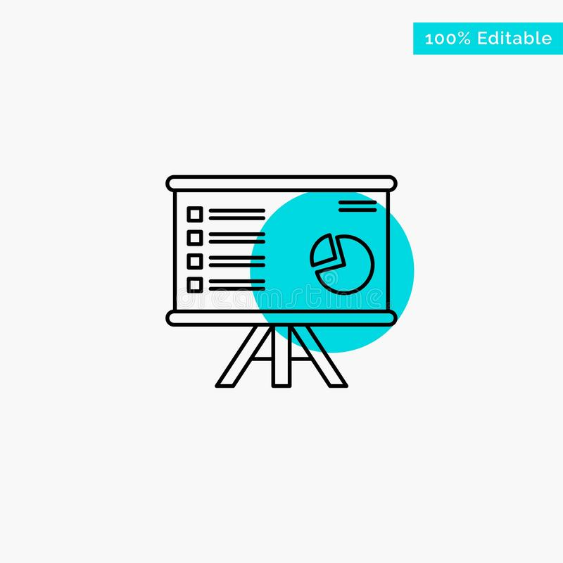 Presentation, Analytics, Business, Chart, Graph, Marketing, Report turquoise highlight circle point Vector icon vector illustration