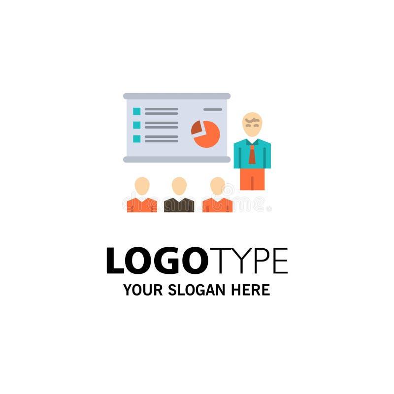 Presentation, Analytics, Business, Graph, Marketing, People, Statistics Business Logo Template. Flat Color vector illustration