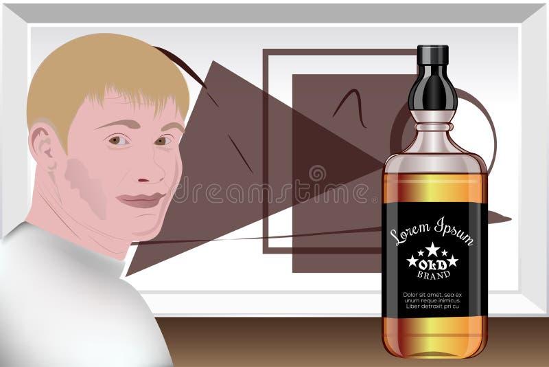 Presentation av alkoholdrycker Designstudio mallförberedelse vektor vektor illustrationer