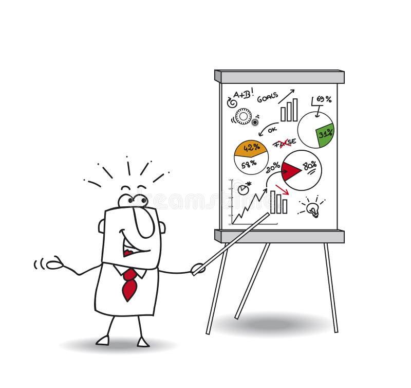 Presentation av Joe royaltyfri illustrationer