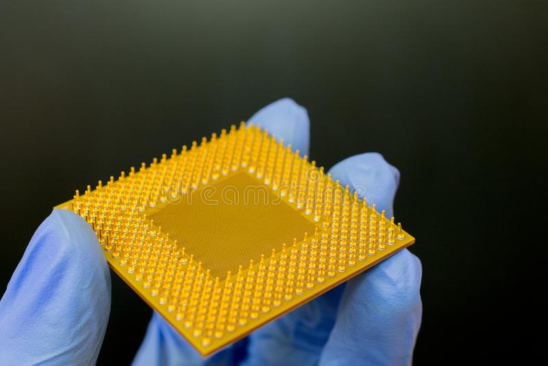 Presentation av nya processorer royaltyfri bild