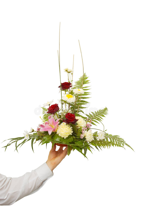 Presentation of a bouquet royalty free stock image
