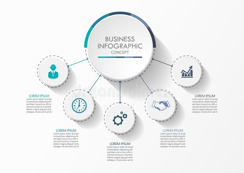 Presentation Business circle infographic vector illustration