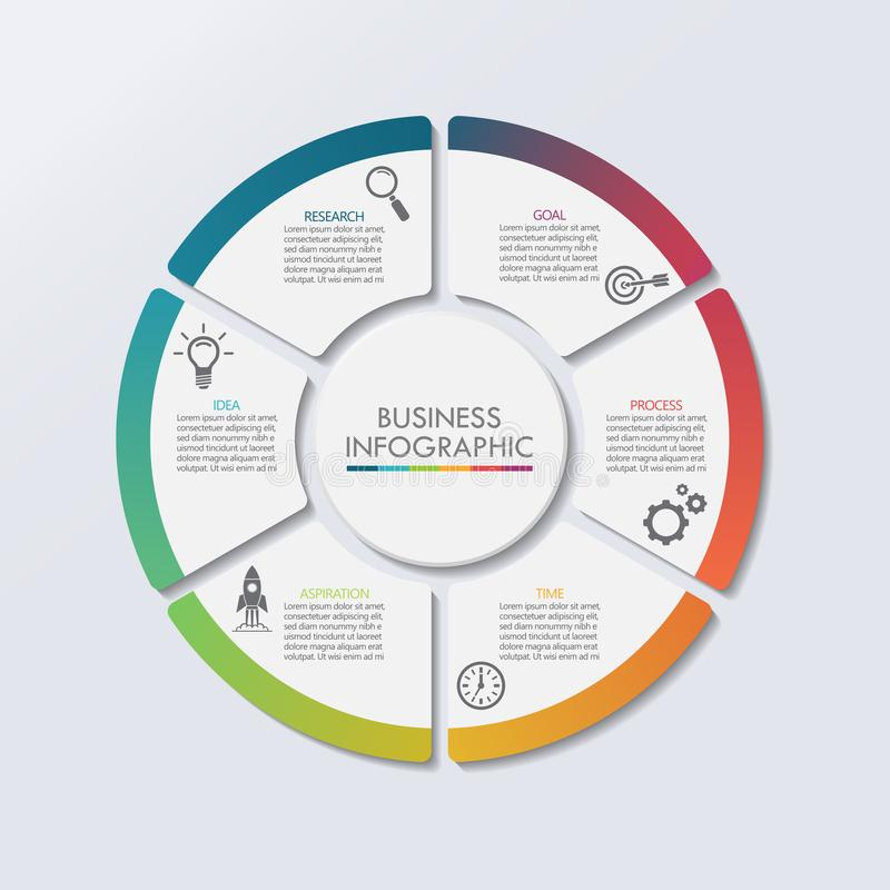 Presentation Business circle infographic template royalty free illustration