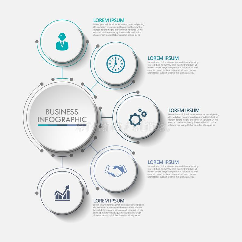 Presentation Business circle infographic template stock illustration