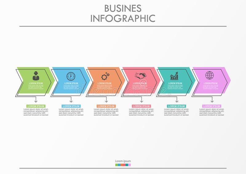 Presentation business infographic template stock images