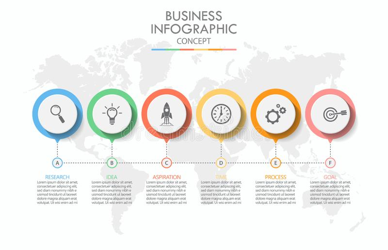 Presentation business infographic template royalty free illustration