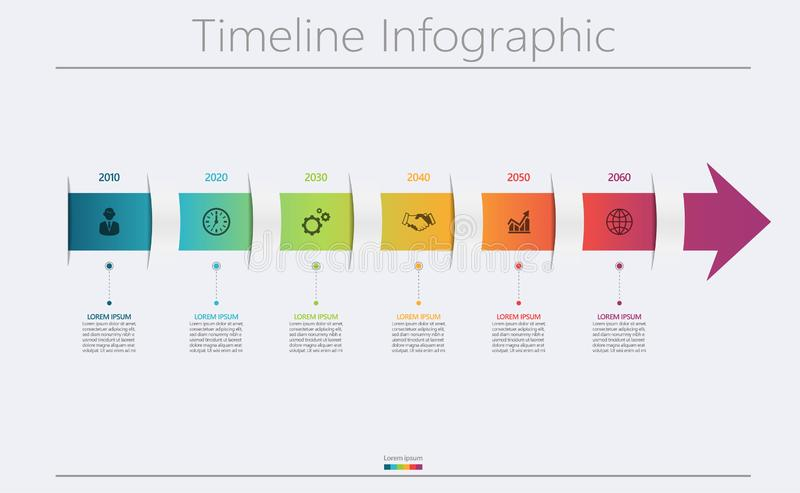 Presentation business infographic template stock image