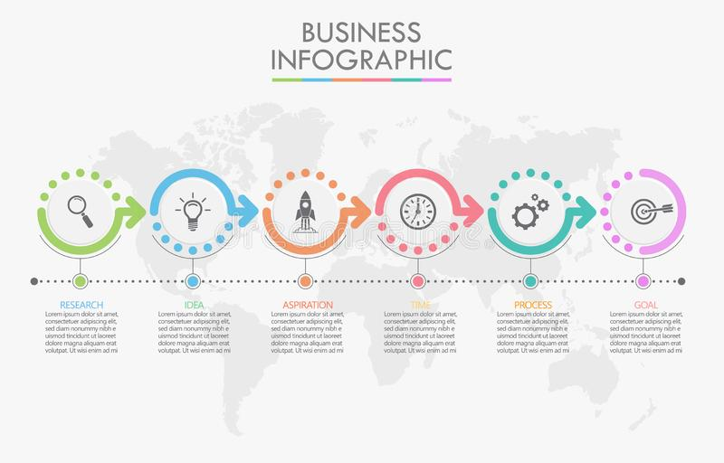 Presentation business infographic template stock illustration
