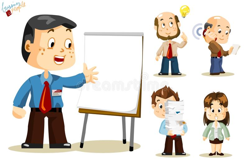 Presentation. Business People vector illustration