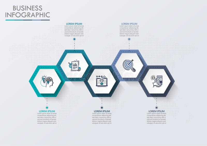 Presentation Business road map infographic template royalty free illustration