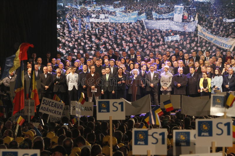 Presentation of the candidates of National Liberal Party stock images