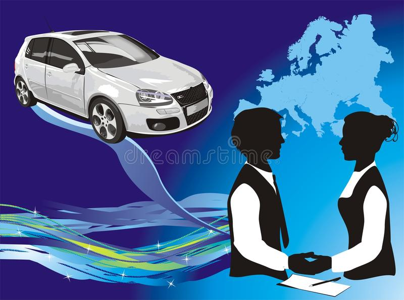 Presentation of a car stock images