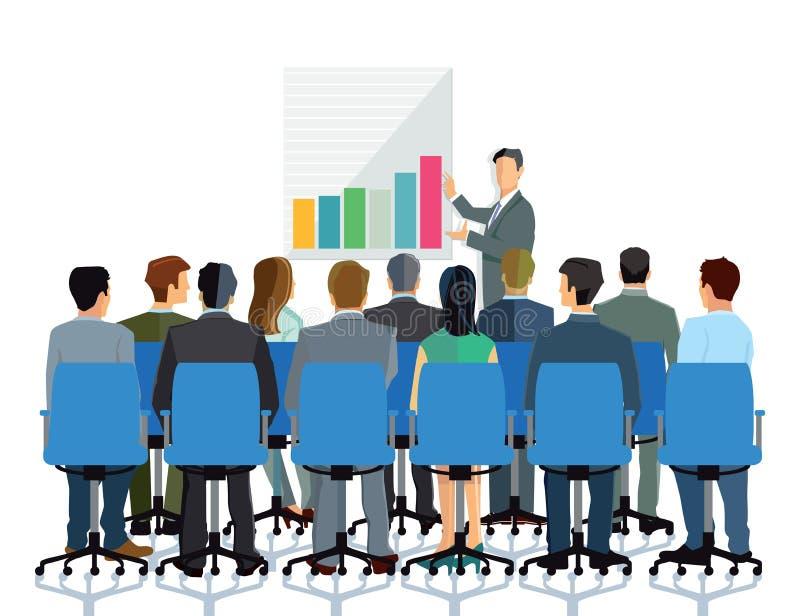 Presentation and consultation stock illustration