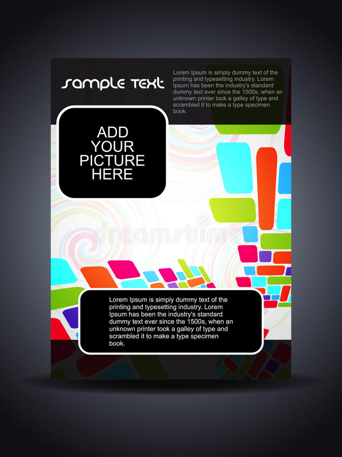 Presentation of creative flyer or cover design. Vector illustration of presentation of creative flyer or cover design vector illustration