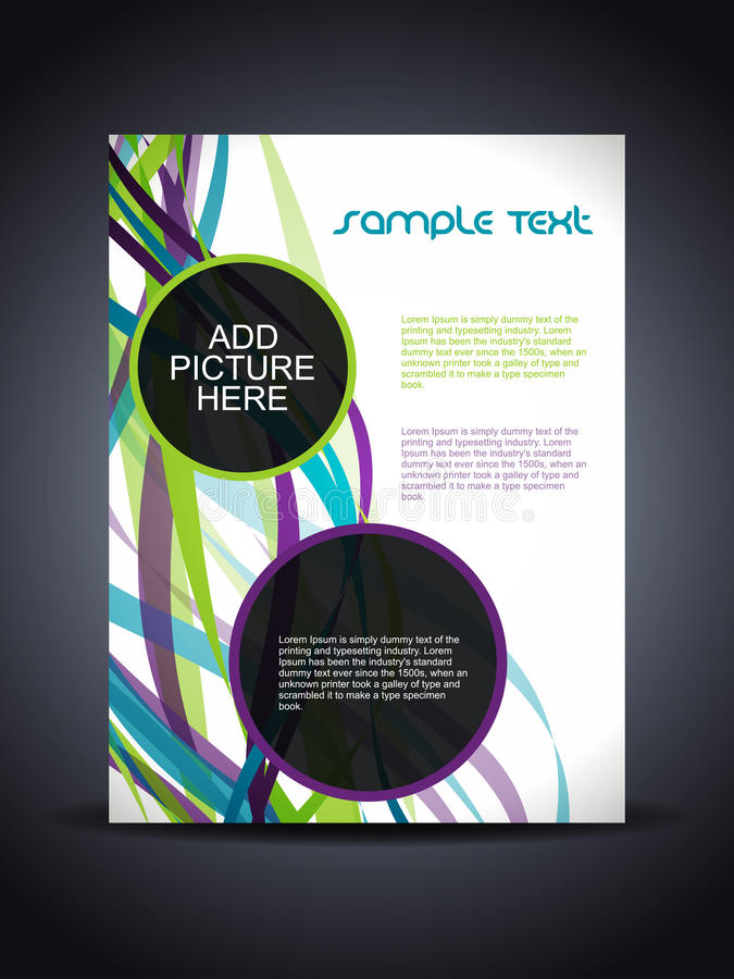 Presentation of creative flyer or cover design. Vector illustration of presentation of creative flyer or cover design royalty free illustration