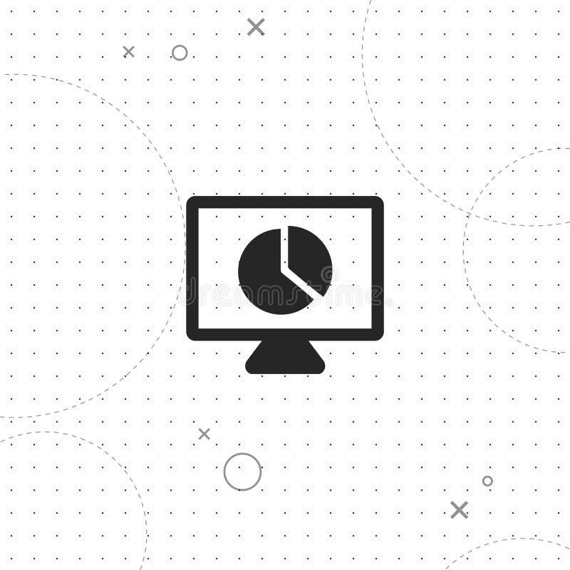 Presentation diagram, vector best flat icon. On texture background , EPS 10 stock illustration