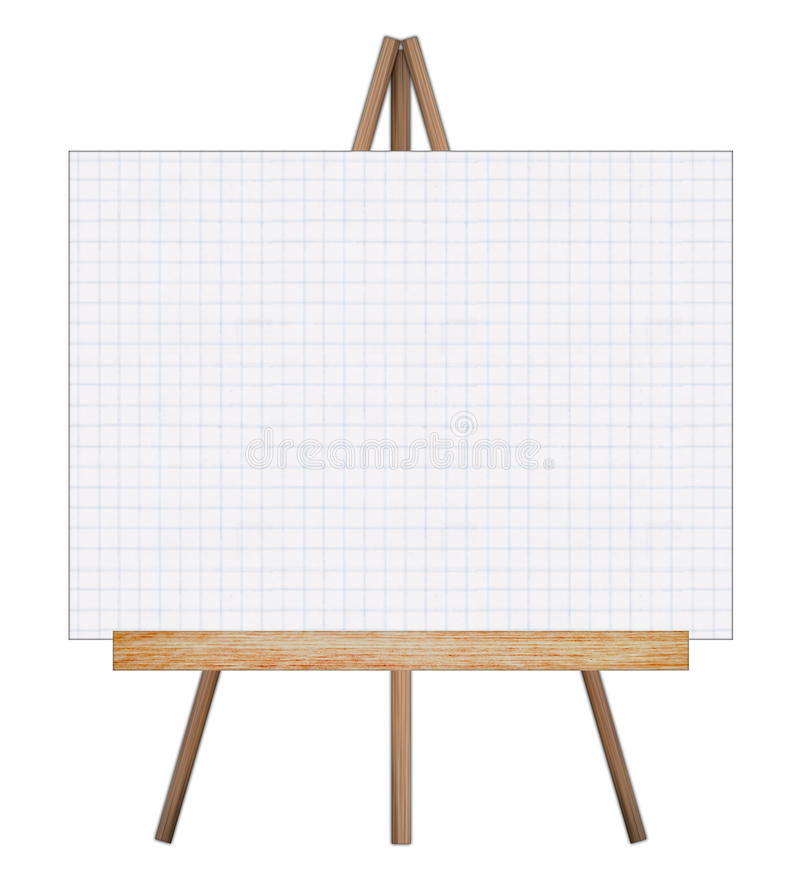 Presentation easel drawing whiteboard. royalty free illustration