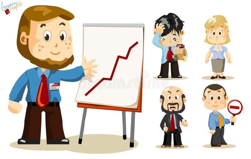 presentation för affärsfolk stock illustrationer