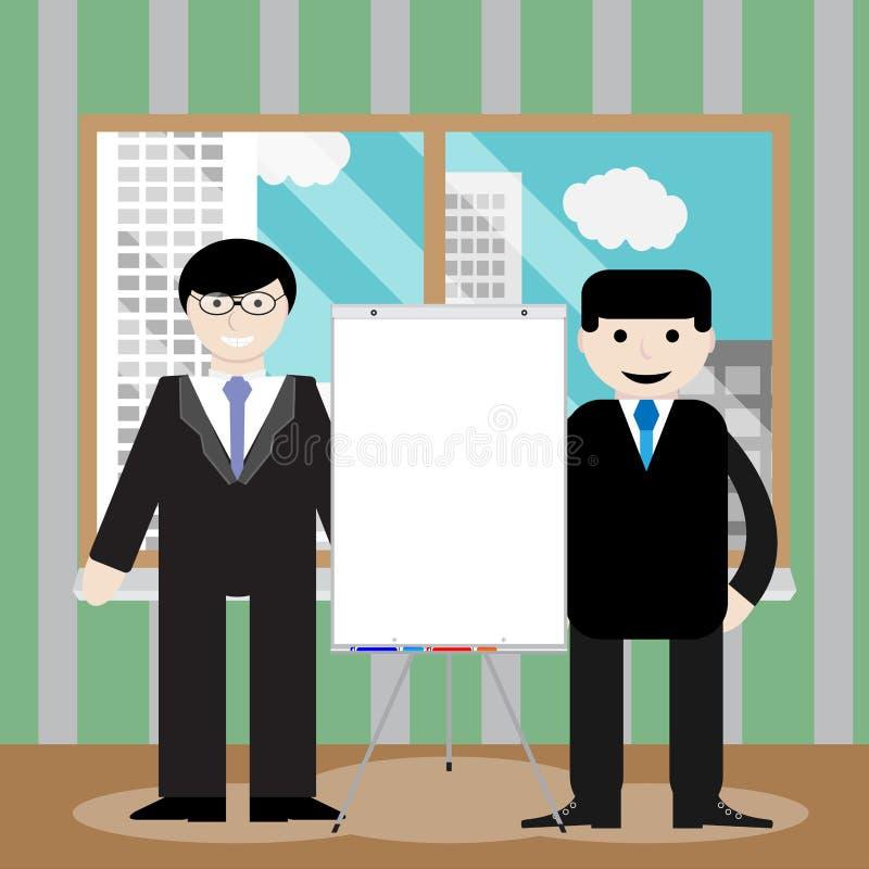 Presentation för affärslagshow royaltyfri illustrationer