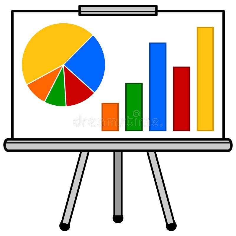 Presentation för försäljningsgrad vektor illustrationer