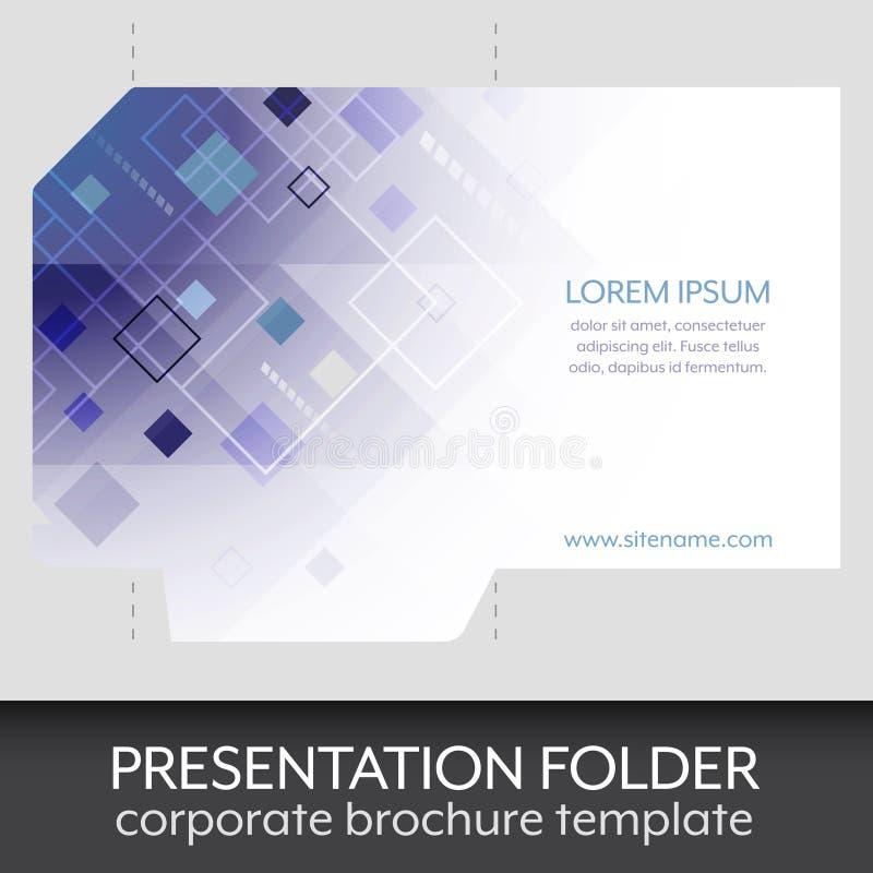 Presentation Folder Design Template Stock Vector Illustration - Brochure folder template