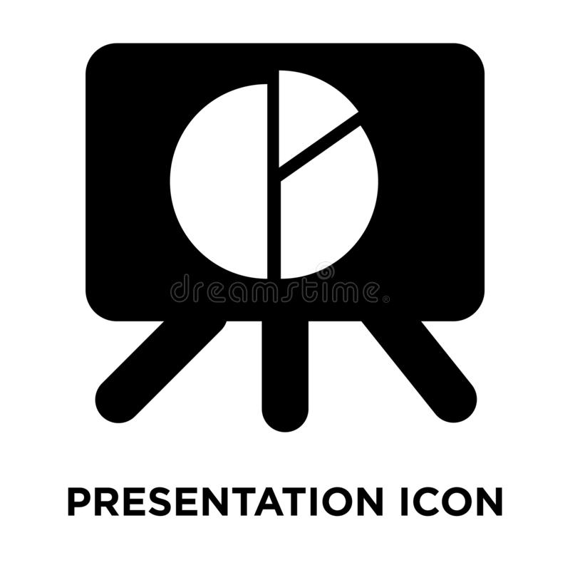 Presentation icon vector isolated on white background, logo concept of Presentation sign on transparent background, black filled stock illustration