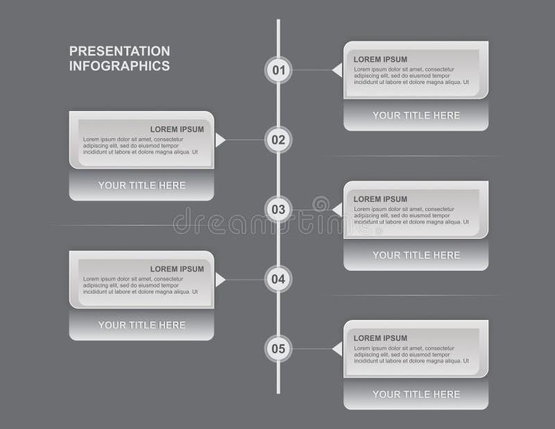 Presentation Infographics royalty free stock image