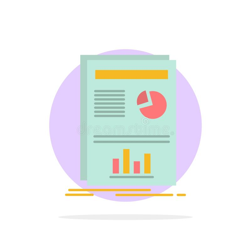 Presentation, Layout, Graph, Success Abstract Circle Background Flat color Icon stock illustration