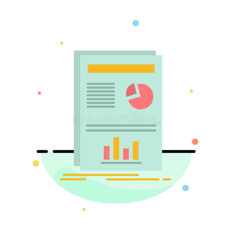 Presentation, Layout, Graph, Success Abstract Flat Color Icon Template stock illustration