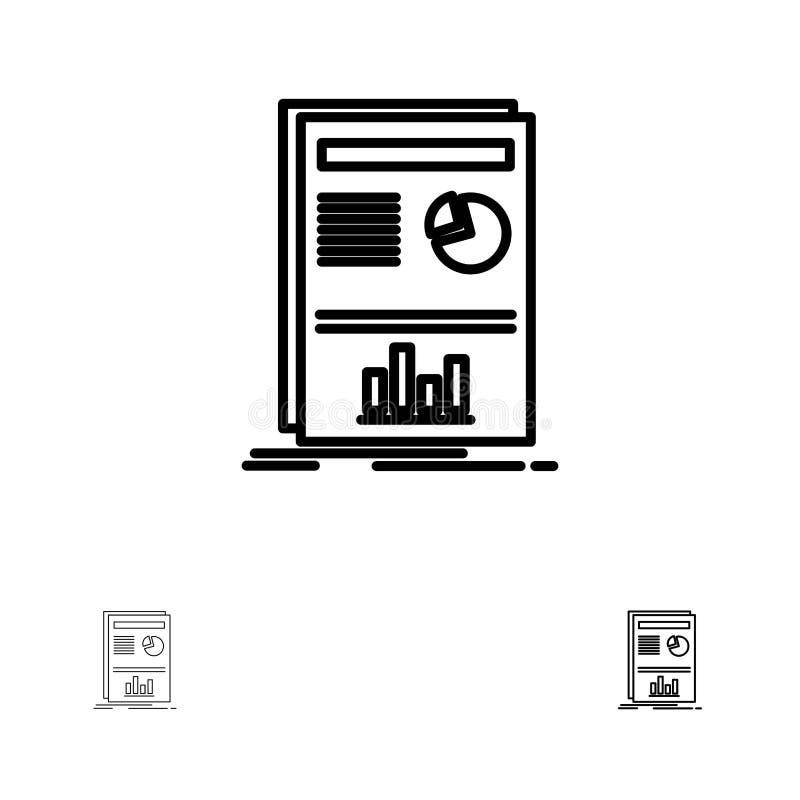 Presentation, Layout, Graph, Success Bold and thin black line icon set vector illustration